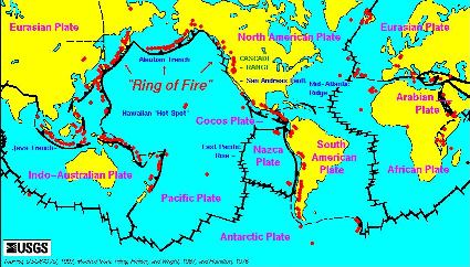 Map of the Ring of Fire